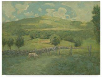 """Alden Julian Weir 'Obweebetuck' Canvas Art - 47"""" x 35"""""""