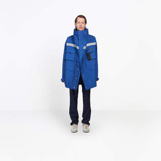 Balenciaga Cotton canvas hooded parka with oversized collar
