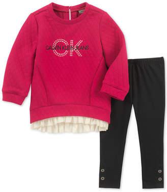 Calvin Klein Toddler Girls 2-Pc. Quilted Tunic & Leggings Set