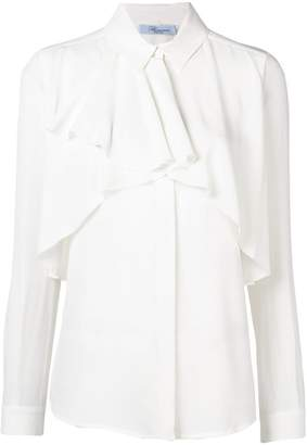 Blumarine ruffle long-sleeve blouse