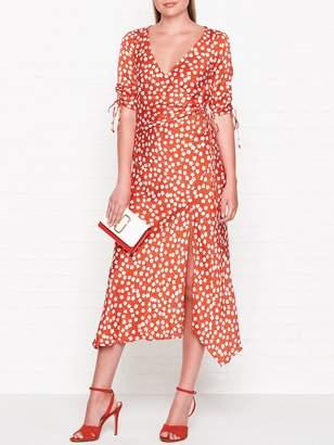 Bec & Bridge In Your Dreams Printed Wrap Midi Dress - Red
