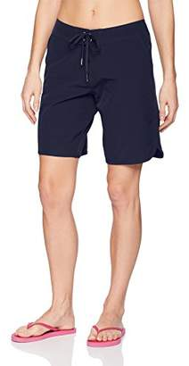 "Nautica Women's Solid Boardshorts 9"" Swim Shorts"
