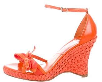 Christian Dior Bow-Accented Wedge Espadrilles