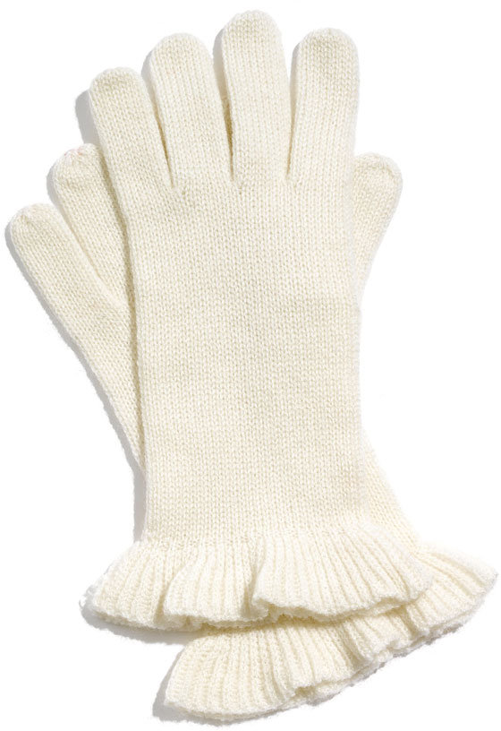 Nordstrom Ruffle Cashmere & Wool Gloves