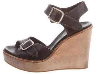 Chloé Leather Wedge Sabndals