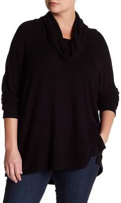 Susina Knit Cowl Neck Pullover (Plus Size)