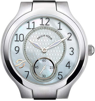 Philip Stein Teslar Round Mother-of-Pearl & Stainless Steel Watch Head