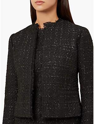Hobbs Gabriella Tweed Jacket, Black