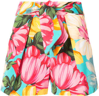 Milly high waist floral print shorts