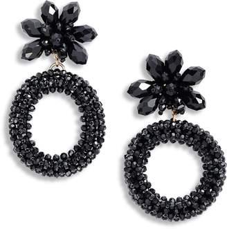 Kate Spade Full Flourish Flower Hoop Earrings