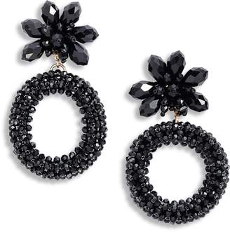Kate Spade Full Flourish Flower Hoop Clip-On Earrings