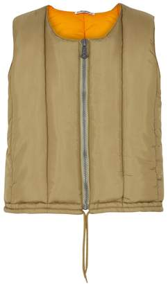Our Legacy Olive Quilted Ripstop Gilet