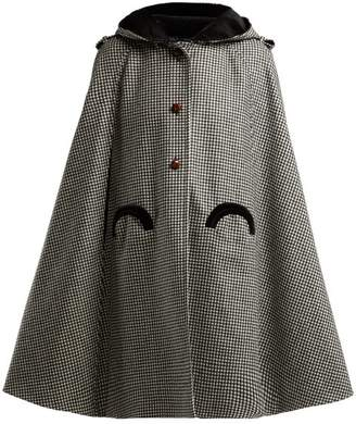 Blazé Milano Blaze Milano - Fair & Square Checked Wool Cape - Womens - Black And White