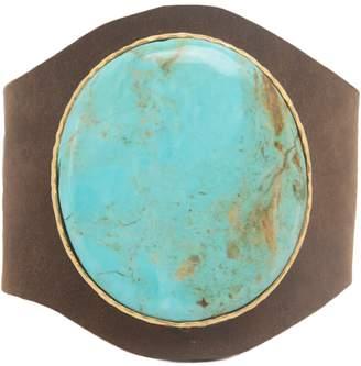 Christina Greene - Leather Cuff in Turquoise