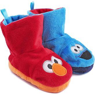 Elmo & Cookie Monster Kids' Reversible Slipper Booties $14.99 thestylecure.com