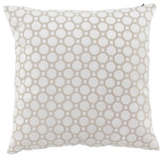 DecMode Decmode Modern 16 X 16 Inch White Throw Pillow With Geometric Patterns