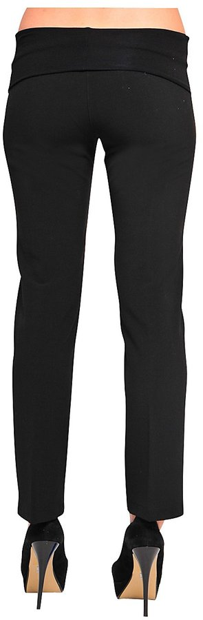 Olian Skinny Leg Twill Pants - Black-Black-X-Large