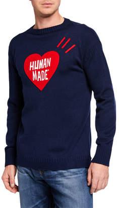 HUMAN MADE Men's Heart Knit Sweater