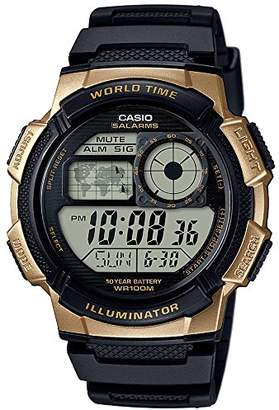 Casio Men's '10 Year Battery' Quartz Stainless Steel and Resin Watch