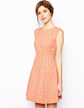Oasis Daisy Jacquard Dress