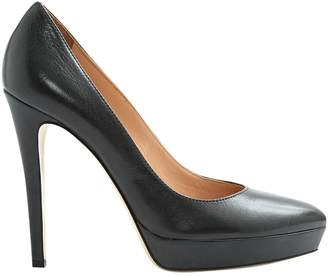 Dolce & Gabbana Anthracite Leather High Heel