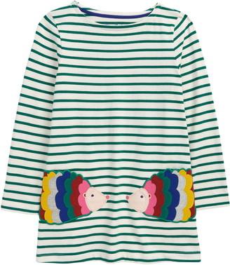 Boden Kids' Stripe Applique Pocket Tunic