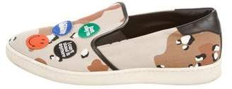 Palm Angels Camouflage Slip-On Sneakers