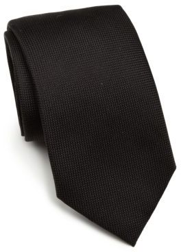 Saks Fifth Avenue Collection Solid Silk Tie $95 thestylecure.com