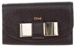 Chloé Bow Leather Key Pouch