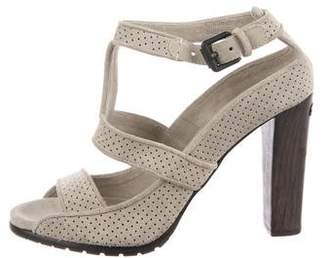 Burberry Perforated Suede Sandals
