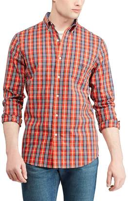 Chaps Big & Tall Regular-Fit Plaid Easy-Care Stretch Button-Down Shirt