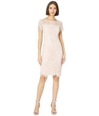 5641aa8ebde1 Adrianna Papell Point D'Espirit Lace Sheath Dress
