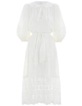 Zimmermann Kali Broiderie Tie Long Dress