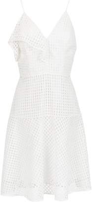 Tufi Duek v-neck ruffled dress