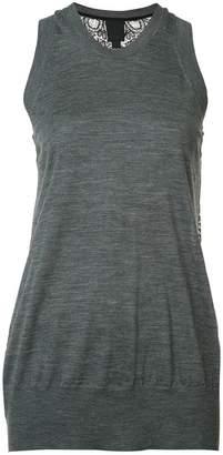 Vera Wang lace back tank top