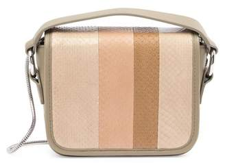 AllSaints Ikuya Leather & Genuine Snakeskin Clutch
