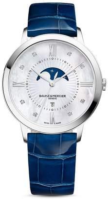 Baume & Mercier Classima Diamond Moon Phase Watch, 36.5mm