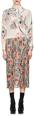 Dries Van Noten Women's Floral & Sketch-Print Shirtdress