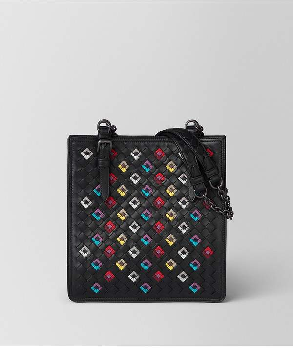 Bottega Veneta Bottega Veneta | Nero Intrecciato Squadrato Miniature Bag | Nero