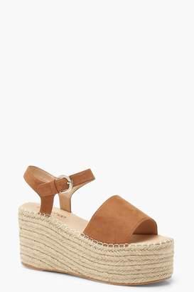 boohoo Espadrille Flatform Sandals