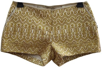 Maison Scotch Gold Cotton Shorts for Women