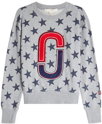 Marc Jacobs Printed Cotton Sweatshirt with Appliqué