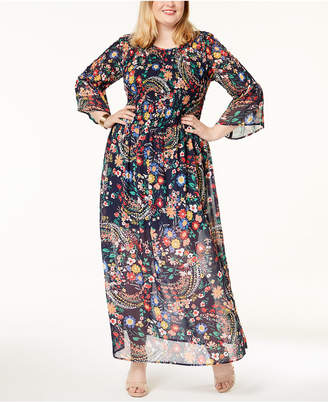 ECI Plus Size Smocked Maxi Dress