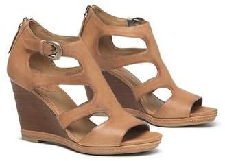 Trask Hara Cutout Buffalo Leather Wedge Sandal