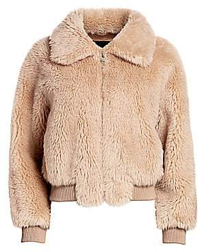 SAM. H Brand Women's Shearling Bomber Jacket