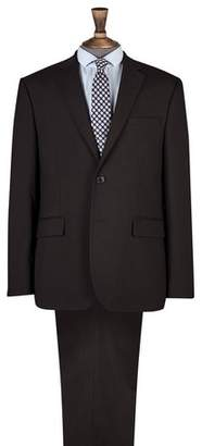 Burton Mens Black Essential Tailored Fit Suit Jacket with Stretch