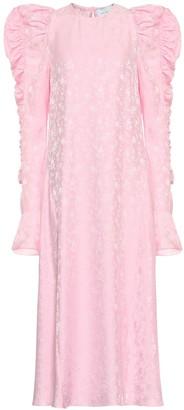 Les Rêveries Exclusive to Mytheresa Floral-jacquard silk dress