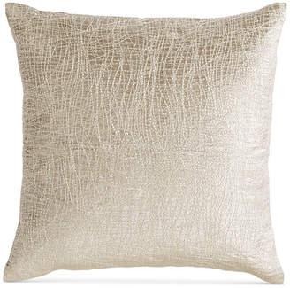"Donna Karan Tidal 16"" Square Leather Decorative Pillow"