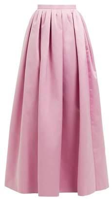 Rochas High Rise Duchess Satin Maxi Skirt - Womens - Pink
