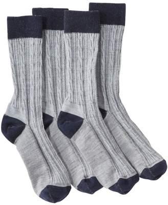 L.L. Bean L.L.Bean Classic Wool Socks, Women's 2-Pack